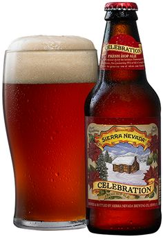 Sierra Nevada Celebration Ale (IPA) -- Bright amber pour with an off white head. Lots of carbonation. Floral and piney hops and some earth, hay, and charcoal notes. It's sharp and a little oily, with a good amount of bright, fresh hops. It' an unoffensive and fairly satisfying fresh hop IPA, but not earth shattering.