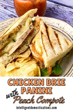 Slather your sandwich bread with our homemade peach compote then turn it into a chicken Panini with melted gooey Brie. It's a heavenly grilled cheese with chicken sandwich for lunch or dinner. Save this recipe, you will be glad you did! #sandwich #chickenrecipe #panini Banana Bread Recipes, Fruit Recipes, Pork Recipes, Crockpot Recipes, Easy Recipes, Chicken Recipes, Easy Meals, Sandwiches For Lunch, Wrap Sandwiches