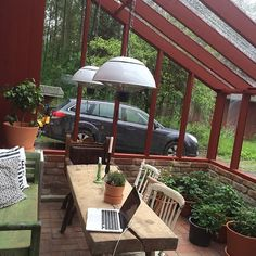 Outdoor Rooms, Outdoor Dining, Outdoor Decor, Greenhouse Cafe, Steel Frame House, Pergola, Gazebo, A Frame Cabin, Wooden Decks