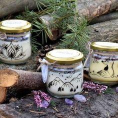 Set 3 ks ručně malovaných přírodních vonných svíček s minerály, sojový vosk Jar, Home Decor, Decoration Home, Room Decor, Home Interior Design, Jars, Glass, Home Decoration, Interior Design