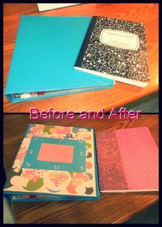 I was feeling crafty, so I transformed my boring school supplies into cute school supplies.
