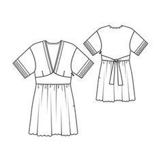 Deep V-Neck Tunic Dress 06/2010 #107