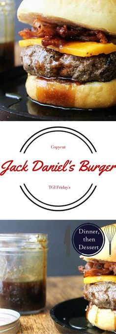 Daniel's sticky, sweet & spicy sauce on a delicious bacon cheeseburger. Can it get any better?Jack Daniel's sticky, sweet & spicy sauce on a delicious bacon cheeseburger. Can it get any better? Burger Recipes, Grilling Recipes, Beef Recipes, Cooking Recipes, Beste Burger, Sweet And Spicy Sauce, Tasty, Yummy Food, Good Burger