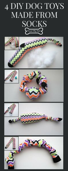 Do you have any old socks lying around that you haven't worn in years? Instead of tossing them out, make these four easy, no-sew DIY dog toys!