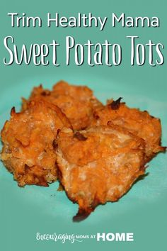 Sweet Potato Tots for Trim Healthy Mama THM-E Recipe - Encouraging Moms at Home Trim Healthy Mama Diet, Trim Healthy Recipes, Thm Recipes, Healthy Snacks, Healthy Eating, Healthy Man, Healthy Sides, Healthy Summer, Vegetables