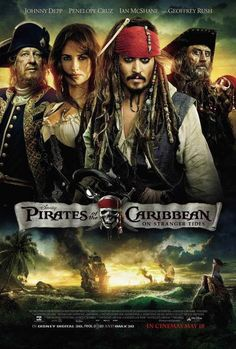 Pirates of the Caribbean: On Stranger Tides 2011 - Johnny Depp, Penelope Cruz, Geoffrey Rush, and Ian McShane. Music by Hans Zimmer. 2011 Movies, Hd Movies, Disney Movies, Movies To Watch, Movies Online, Movies And Tv Shows, Johnny Depp, Sam Claflin, Penelope Cruz