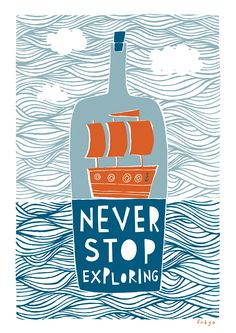 Never Stop Exploring - Fine Art Print (Large). $75.00, via Etsy.