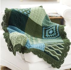 Can't decide on a crochet afghan pattern? You don't have to with the Little Bit of Everything Afghan! With 12 different designs, this is one of the most diverse crochet blanket patterns out there. This afghan sampler combines an endless variety of stitches and patterns, so you'll never get bored making it!