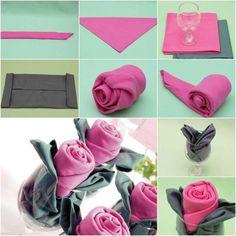 pliage de serviette pour noel - pliage serviette en papier pour noel