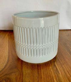 Large Boho Style Ceramic Planter - Light Grey Ceramic Planters, Modern Boho, Boho Fashion, Handmade Items, Ceramics, Boho Style, Grey, Decor, Ceramic Pots