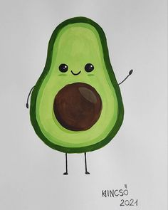 "Horváth Kincső Art az Instagramon: ""Cute avocado 🥑☺️💚 #acrylicpainting #freshavocado #cuteart #paper #dailyart #artistoninstagram #totiktok #art #painting #avocado…"" Yoshi, Painting, Fictional Characters, Art, Art Background, Painting Art, Kunst, Paintings, Performing Arts"