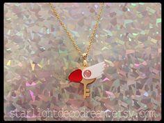 Cardcaptor Sakura Clow clé inspiré or collier acrylique pour Mahou Kei, Magical Girl Fashion