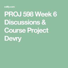 PROJ 598 Week 6 Course Project