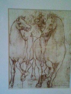 Detail of horse print/sketch