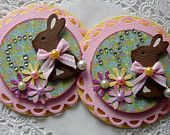 Easter Bunny Paper Embellishments