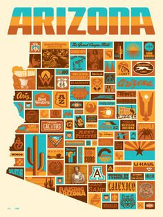 Arizona Poster from Draplin Design Co.  I should get this for a hint of home!