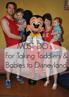 My MUST DO's when taking your Toddler &/or Babies to DISNEYLAND! These will make your trip so much more enjoyable!  #disneyland #familyvacation #Disney