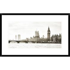 View Of The Houses Of Parliament And Westminster Bridge, London By Frank Helena, 18 X 30-Inch Wall Art