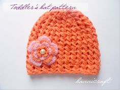 Toddler Flower Hat Pattern. This is a pretty stitch! Free pattern from Hannicraft.