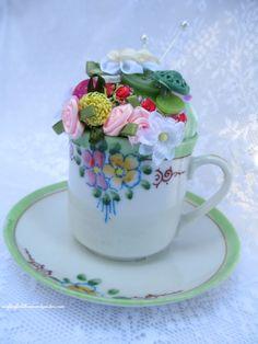 Pincushion Teacup ~ a keepsake gift