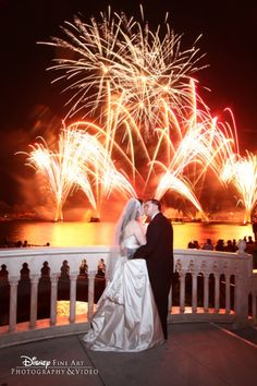 It's always a good time for fireworks! #Disney #wedding #Epcot. Photo: Mike, Disney Fine Art Photography