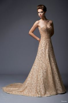 enaura color wedding dresses fall 2013 strapless gown style ef354