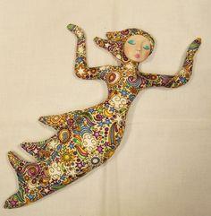 Shooting STAR Goddess cloth art doll form w/face cab 11in. tall You bead it  #handmade #dolls #sewing #goddess #mind body spirit marketplace
