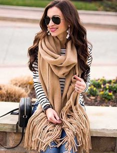 Outfit Ideas For Short Girls - Striped Shirt And Scarf Dress For Petite Women, Dress For Short Women, Short Girls, Short Women Fashion, Fashion For Petite Women, Classy Work Outfits, Short People, How To Wear Scarves, One Piece Dress