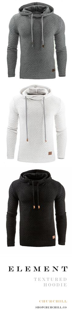 Element – The Perfect Men's Hoodie Stay warm this winter with this best-selling textured hoodie off today) Fashion Moda, Trendy Fashion, Winter Fashion, Mens Fashion, Fashion Fashion, Travel Fashion, Trendy Style, Fashion Design, Casual Outfits