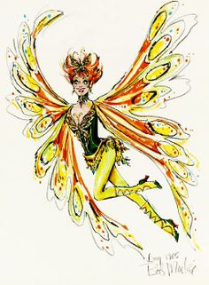 Lucille Ball costume sketch by Bob Mackie