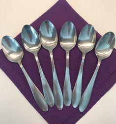 Cambridge Stainless Table Soup Spoon Lot Of 5 Dinner Simple Plain Design #Cambridge