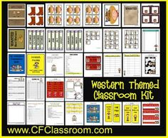Littlest Learners / Clutter-Free Classroom Blog: YEEHAW! A WESTERN / COWBOY THEME