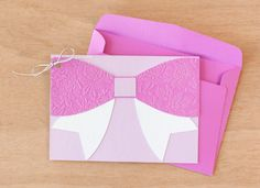 Anna Griffin Splendid Soirees Bow Card. Make It Now in Cricut Design Space