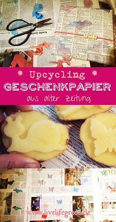 Upcycled wrapping paper from old newspapers – Weihnachten Bloğ Diy Upcycling, Upcycle, Old Newspaper, Christmas Is Coming, Gift Tags, Special Occasion, Wraps, Gift Wrapping, Recycling