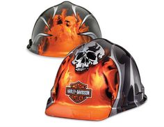 H-D Skull Hard Hat - Orange