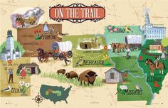 Camille's Primary Ideas: Pioneer Day Singing Time - On The Trail Map