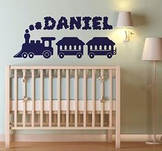 Personalize the bedromm of your kids with theis name and a beautiful design. #tenstickers #tenvinilo #sticker #decoration #wall #art #home #decor #house #name #train #DIY #personalize
