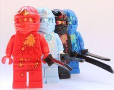 Amazon.com: LEGO Ninjago - 4 NRG Ninjas - Kai, Cole, Jay & Zane: Toys & Games
