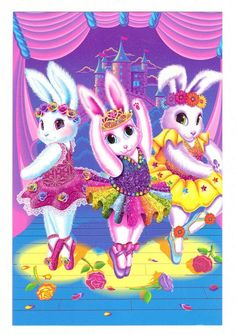 Lisa Frank Ballerina Bunnies--OK I DEFIANTLY HAD THIS ONE! bcus those tutus r flooding back memories...i remember i loved just staring at them!