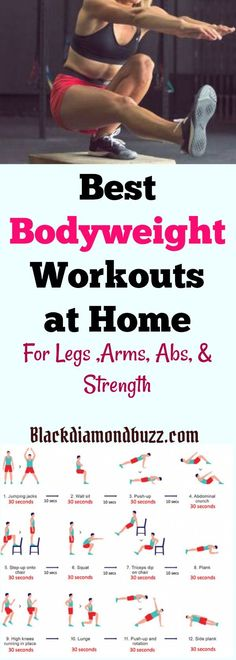 7 Best Bodyweight Exercises for Weight Loss at Home - For Legs, Arms , Abs and Strength. You can start it today.