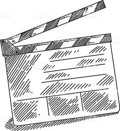 Image result for how to draw clapboard