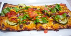 Wow, a delicious flatbread cheeseburger pizza from Conrad's in Walpole, Mass.! http://visitingnewengland.com/blog-cheap-travel/?p=3252. OK, now back to my regular, more healthy diet!