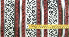 Hand Block Print, Cotton Fabric. Natural Dyes. 2½ Yards $24.99