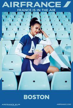 """Nouvelle vague d'affiches """" France is in the air """" par Air France ❤️❤️❤️ La compagnie aérienne Air France a dévoilé une deuxième vague d'affiches « France is in the air », créée par l'agence BETC .                                                                                                                                                                                 More"""