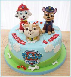 Bolos aniversário Patrulha Pata Bolo Do Paw Patrol, Cumple Paw Patrol, Paw Patrol Cake, Paw Patrol Party, Mermaid Birthday Cakes, Baby Birthday Cakes, Paw Patrol Birthday Cake, Cake Decorating Designs, Animal Cakes