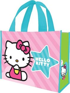 Hello Kitty - Pink Stripes - Large Recycled Shopper Tote - Vandor $5.98 on…