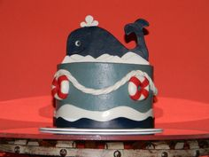 Ahoy! It's a Boy! - Baby shower cake for a baby boy.