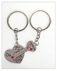 Schlüsselanhänger Herz mit Schlüssel nicht nur zum Valentinstag.