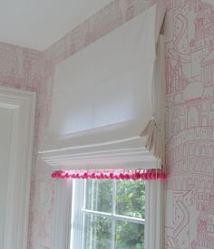 outside mount roman shades Bathroom Transitional with banding girls' bathroom outside Valances For Living Room, Living Room Windows, Window Coverings, Window Treatments, Outside Mount Roman Shades, Store Bateau, Curtains With Blinds, Window Blinds, White Roman Blinds
