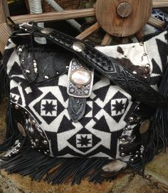 Pendleton wool & Black & White Hair on hide... SOLD to Colleen